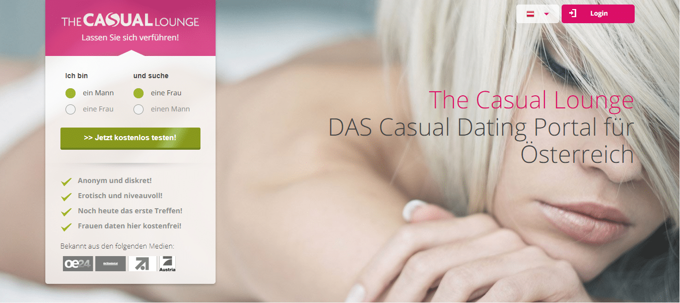 The Casual Lounge - Die besten Casual Dating Seiten - Screen