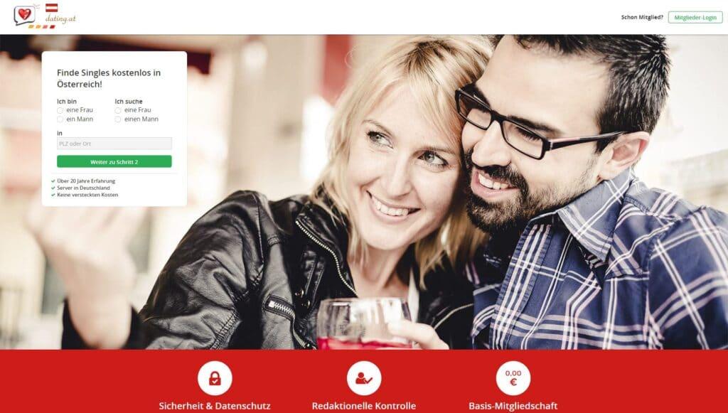 Dating.at - Singlebörsen Übersicht