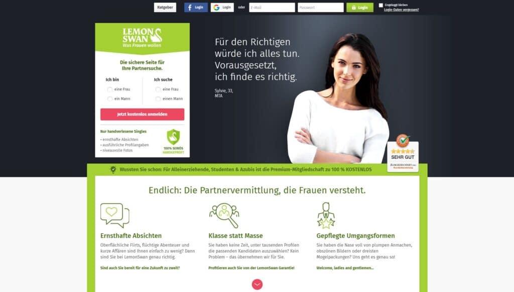 LemonSwan - Beste Partnervermittlungen