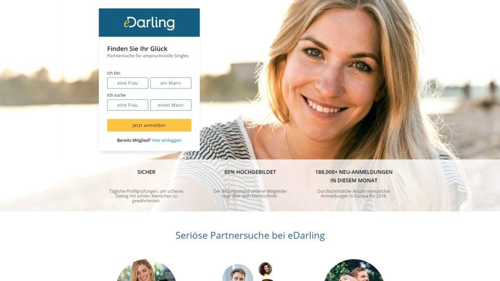eDarling - Partnerbörsen übersicht